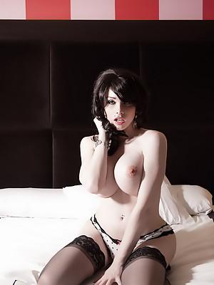 Big titted tranny Sarina Valentina posing