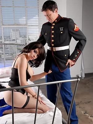 Horny Transsexual Sarina Valentina fucking a marine